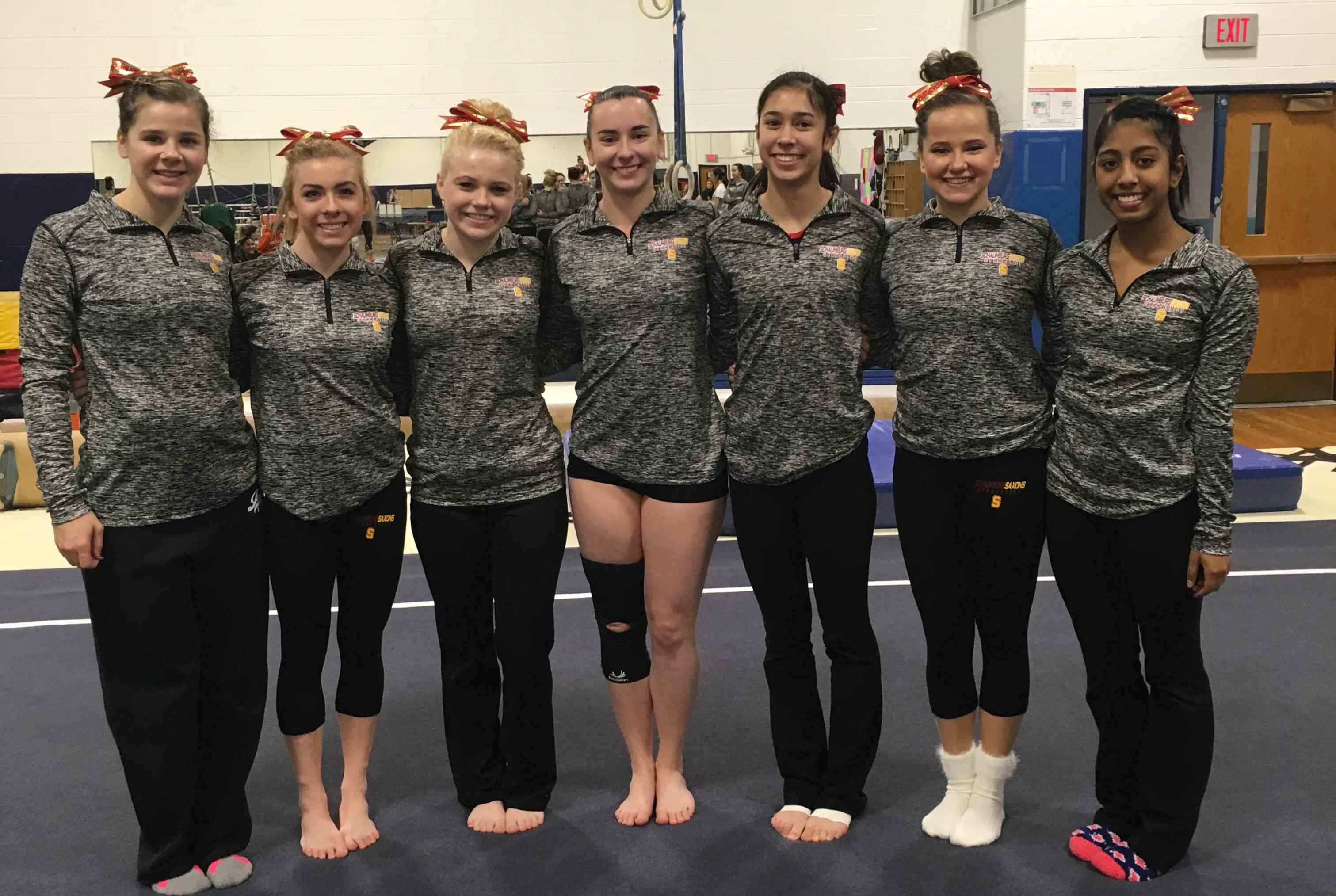 The girls pose for a team photo before the Prospect Invite on January 16, 2016