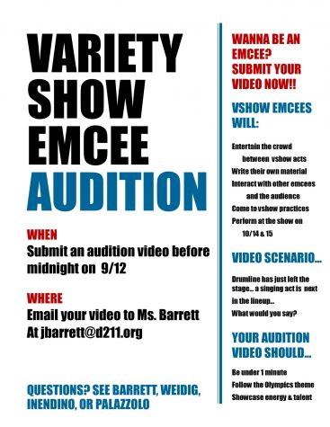 Love to talk and entertain? The Variety Show is looking for charismatic students to host the evening.