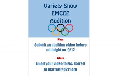 """Go for the Gold and Red"" Variety Show Seeks Emcees"