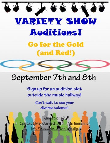 Come out and show your talents on September 7th and 8th in the annual SHS Variety Show audition.