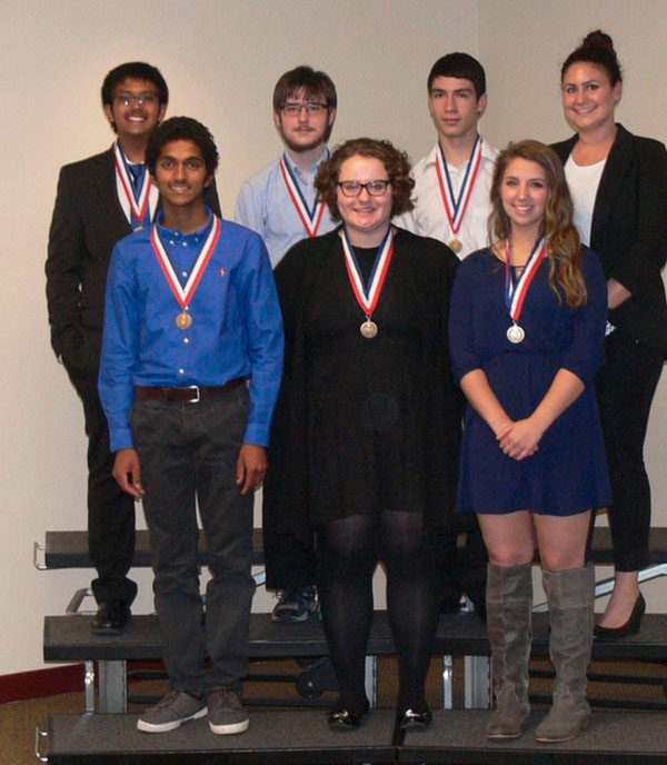 Schaumburg+BPA+students+with+their+metals+after+a+competition.