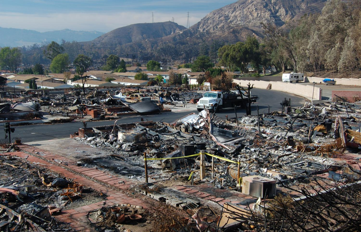 Wildfires in California laid waste to thousands of acres and destroyed businesses and homes.