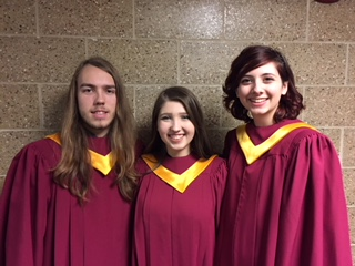Jake Long, Cameron Kidd, and Olivia Donofrio competed in the Illinois Music Educators Association on December 11