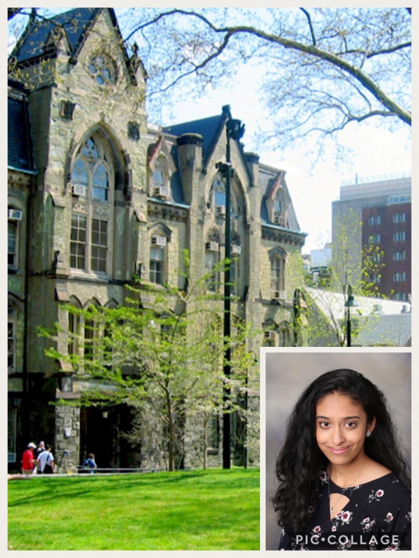 Bhavya Shah and her future university.