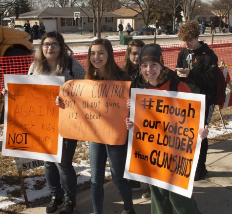 Schaumburg students walk out in protest over gun laws