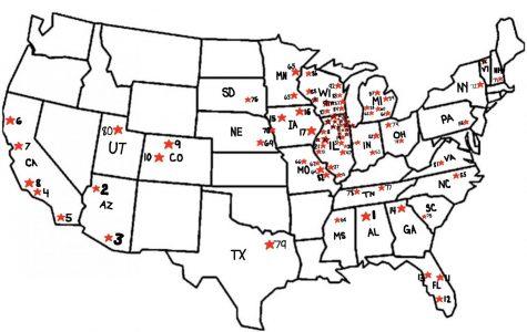 Class of 2018 Senior Map