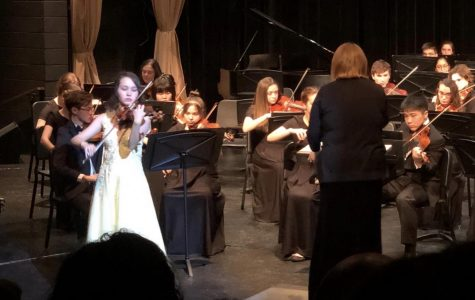 Maika Edwards, winner of the SHS Concerto Competition
