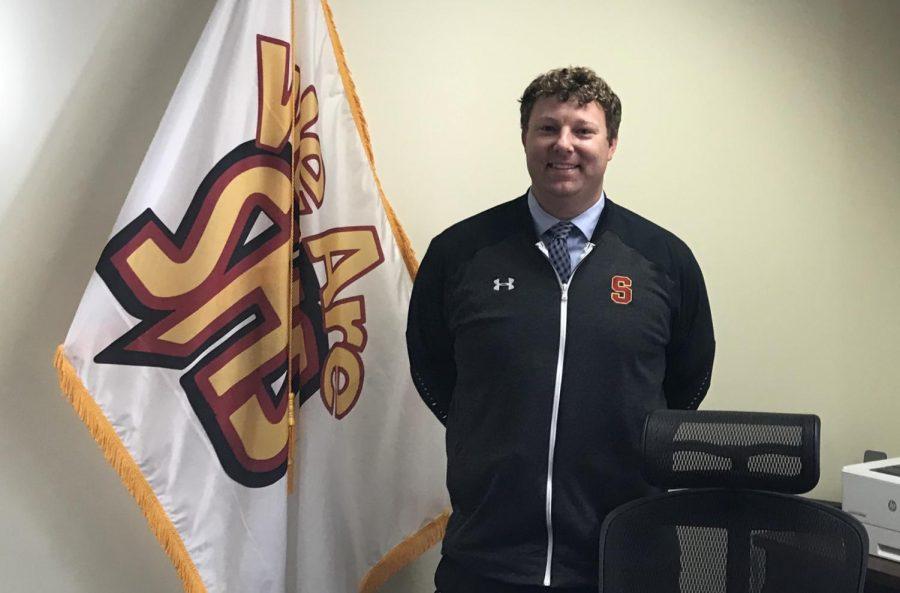 Mr. Brian Harlan replaces Mr. Tim Little as Schaumburg High School's principal.