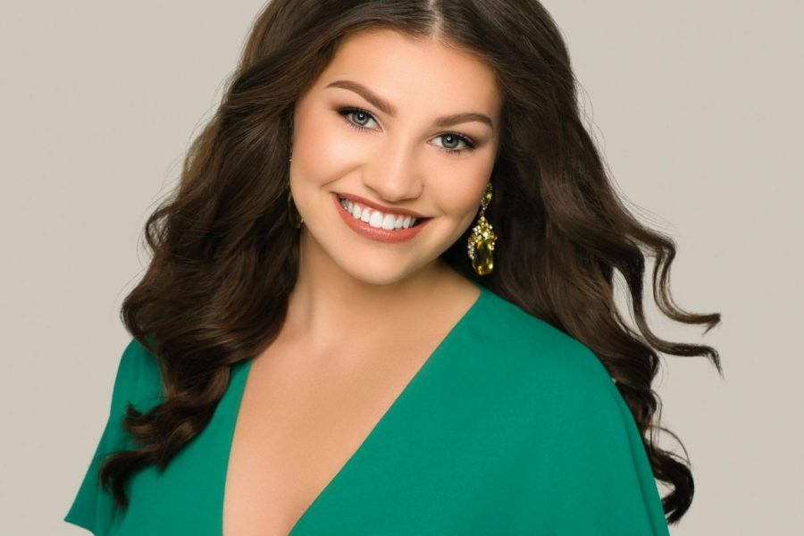 Saxon senior Courtney Larsen was crowned National American Miss Illinois Teen.